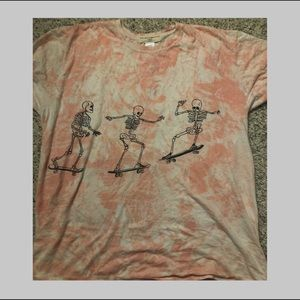 Urban outfitters skeleton tie dye tee